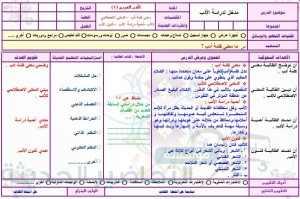 الادب العربي ثاني ثانوي مستوى ثالث بالطريقة الخماسية