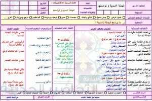 تحضير اللغة العربية اول ثانوي مستوى اول