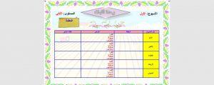 استمارة-جدول-توزيع-المستوى-الثاني