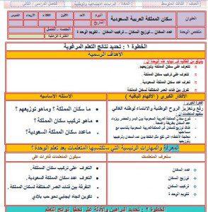 تحضير اجتماعيات ثالث متوسط بطريقة الوحدات مشروع الملك عبدالله