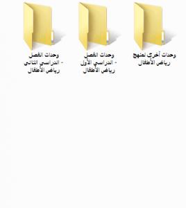 محتوى مجلد الوحدات