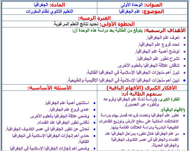 كتاب الاجتماعيات اول ثانوي مقررات pdf