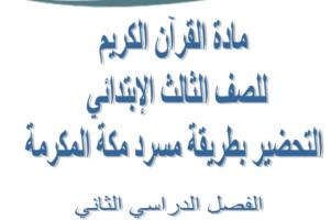 بوربوينت مادة القرآن الكريم للصف الثالث الابتدائي الفصل الدراسي الثاني 1440 هـ