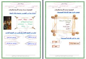 مهارات درسمعاني أسماء الله الحسنى مادة التوحيد للصف الرابع الابتدائي الفصل الدراسي الثاني
