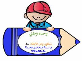 استمارة التحضير للركن الايهامي وحدة وطني رياض اطفال