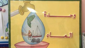 تحضير بطريقة معايير التعلم المبكر النمائية وحدة الماء رياض اطفال