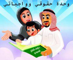 ركن القراءة والكتابة وحدة حقوقي وواجباتي رياض أطفال