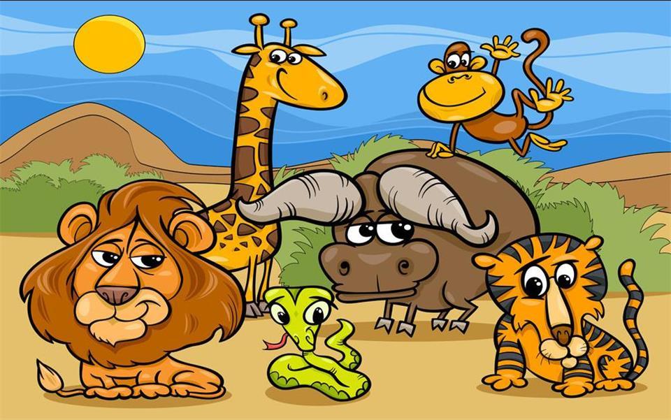 عروض بوربوينت وحدة الحيوان رياض أطفال